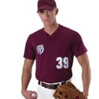 Baseball Two Button Henley Jersey Thumbnail